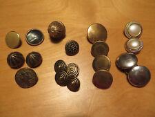 19 Stück antike Knöpfe für Uniform, Tracht oder Gehrock, 14mm - 22mm