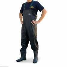 NEW PVC Chest Carp Coarse Fly Fishing Waders - Black - Lineaeffe  - All Sizes