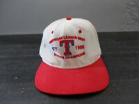 VINTAGE Texas Rangers Hat Cap Snap Back White Red MLB Baseball New Era Mens 90s