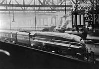 OLD PHOTO Locomotive Queen Elizabeth At Glasgow Central London Midland Scottish