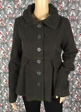 Jack BB Dakota Women's Gray Buttons Down Peacoat Jacket Size Small Excellent