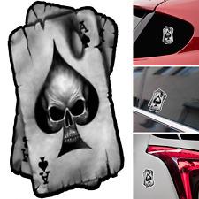 Spades Skull Sticker Badge Emblem Auto Car Motorcycle Logo Decals PVC Cartoon