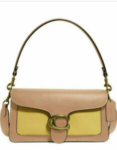 COACH Tabby Shoulder Bag 26 Colorblock Leather NATURAL YELLOW MULTI 76105 - NEW