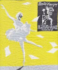 Rare mouchoir publicitaire Théâtre MARIGNY Les BALLETS DE PARIS Roland PETIT 50s