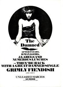 DAMNED. 0rig 1985 A4 promo leaflet. Punk. M-.