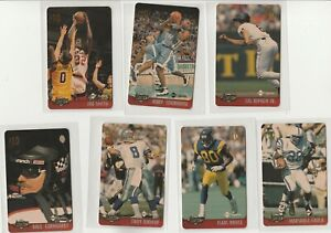 90'S INSERT LOT (7/10) 1996 ASSETS $10 PHONE CARDS UNSCRATCHED AIKMAN STACKHOUSE