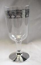 20 X fuerte Plástico desechable Copas De Vino 170ml / 6 oz De Lujo Borde De Plata Diseño