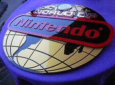 WORLD OF NINTENDO GLOBE CUSTOM 3D sign ART display NEW playstation game Sega