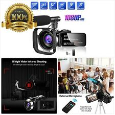 Video Camera 1080P Camcorder Full HD 30FPS 24MP Vlogging Camera for YouTube IR N