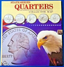 Uncirculated 1999-2008 50 State + 6 Territories Quarters in Collection Book -New