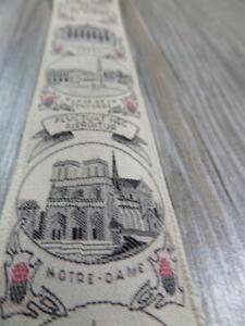 vintage TRAFALGAR suspenders PARIS braces NOTRE DAME eifel tower
