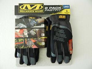 Mechanix Wear FastFit Original Multi Purpose Heavy Duty Work Gloves 2 Pack Black