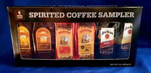 NEW White Coffee Spirited Coffee Sampler 6 pack Kahlua Jim Beam Tortuga Rum