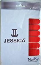 "Jessica Nailsy Professional Nail Foils Wraps x 24 ""Liquid Fire"" Metallic Red"