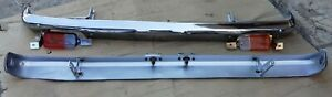 TOYOTA COROLLA KE30 SEDAN FRONT & REAR CHROME BUMPERS  COMPLETE COMPLETE USED