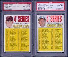 PSA 8 1967 Topps #361 5th Series Checklist Check List Roberto Clemente SET BREAK