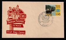 Ceylon 1967 FDC International Tourist Year, Sri Lanka, elephant ride