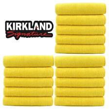 Kirkland Signature 40cm Ultra Plush Microfibre Towels Soft Cloth x15