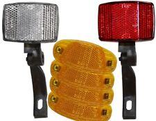 BDCP Fahrrad Reflektor-Set Frontstrahler, Rückstrahler, 4 Speichenreflektoren