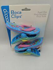 Flip Flops (set if 2) Towel Clips Boca Clips (Keeps Your Towel In Place)