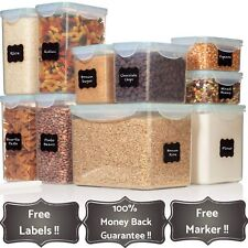 TALL WIDE DEEP Food Storage Containers - Sugar, Flour Plastic Containers 20 p...