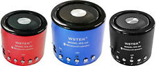 mnt* MINI SPEAKER CASSA AMPLIFICATA RADIO FM LETTORE MP3 USB AUX SD BLUETOOTH