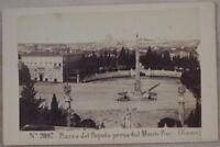 ROMA PIAZZA DEL POPOLO PRESO MONTE PINCIO FOTOGRAFIA STORICA ROME 1870 CIRCA