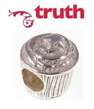 Genuine TRUTH PK 925 sterling silver glitter star cupcake European charm bead