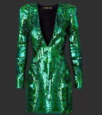 NWT Balmain X H&M Green Sequin Dress Sz. US 6, EU36, UK 10