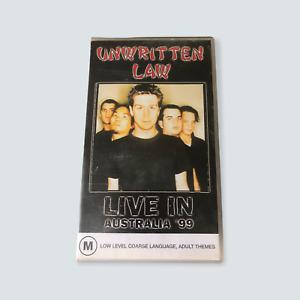 Unwritten Law - Live in Australia '99 VHS - 1999/GC/PAL/Heavy Metal/Hard Rock 🐙