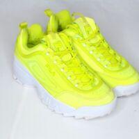 Fila DISRUPTOR II PREMIUM WomenYellow 700 Athletic Sneaker Shoes Size 10