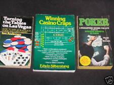 3 Vintage Vegas Gambling Craps Blackjack Poker sc Book Casino