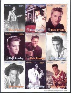 Tanzania 1992 Elvis Presley/Music/Film/Cinema 9v sheet ref:b3616