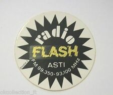 VECCHIO ADESIVO RADIO / Old Sticker RADIO FLASH ASTI (cm 9) nero