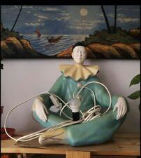 Art Deco  Mood Lamp Of Pierrot The Clown.