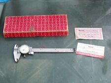 Starrett No. 120 Dial Calipers With Box