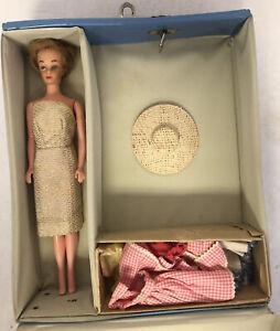 1961 Mattel Vintage Barbie Blue Ponytail Single Doll Case