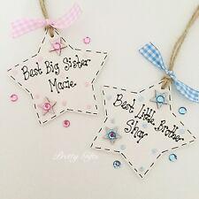 Personalised Little, Big, Brother, Sister Star Keepsake Gift Plaque Handmade