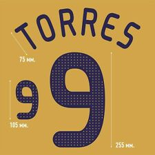 Torres 9. Spain Away football shirt 2008 - 2010 FLEX NAMESET NAME SET PRINT