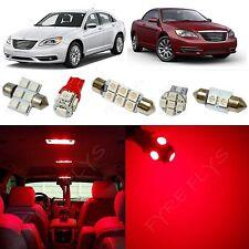 6x Red LED lights interior package kit for 2011-2014 Chrysler 200 RT1R