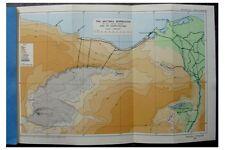1933 John Ball - QATTARA DEPRESSION  - Libyan Desert - COLOUR MAP - 10