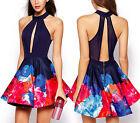 Vestito Mini Floreale Donna - Mare - Casual - Woman Mini Dress 110113