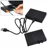 Hub USB External S/PDIF Optical Sound Card Channel 5.1 Box DAC Audio PC Laptop