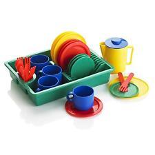 KiddyPlay Tea-set Cutlery Dishwasher Set Childrens/Kids Pretend Play Kitchen Toy