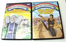 THE STORY OF DAVID & MOSES - Animated- 6 Stories 2 DVDs Christian Mormon