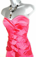 Stunning Jane Norman Strapless Ruffle Criss Cross Satin Evening Prom Dress 10