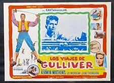 THE 3 WORLDS OF GULLIVER Kerwin Mathews LOBBY CARD N MINT 1960