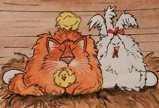 CAT ACEO -Orange Kitty Nap in the hen house  - by Pryjmak