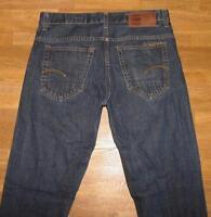 "lange G- STAR RAW  "" 3301 SLIM "" JEANS / Blue- Jeans in dkl.- blau W33"" /L36"""