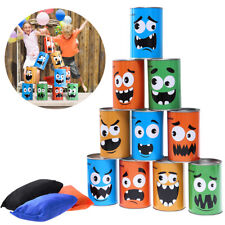 10pcs Kids Carnival Monster Can With 3 Bean Bag Toss Game Birthday Picnic Party